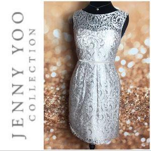 Jenny Yoo Harlow Lyon Lace Dress EUC 8